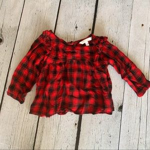 Bundle 3/$20🛍️  Girls Red Plaid Blouse